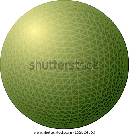Simple sphere vector illustration.