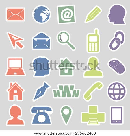 simple stickers for business card and everyday use eps10 - stock vector
