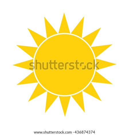 Simple sun icon. Vector illustration