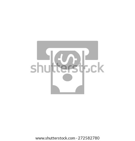 Simple symbol issuing or receiving money from an ATM. - stock vector