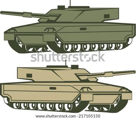 Simple tanks vector - stock vector