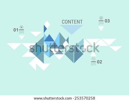 Simple Triangles Collection as an Concept Info Chart Minimalist Background  Element - stock vector