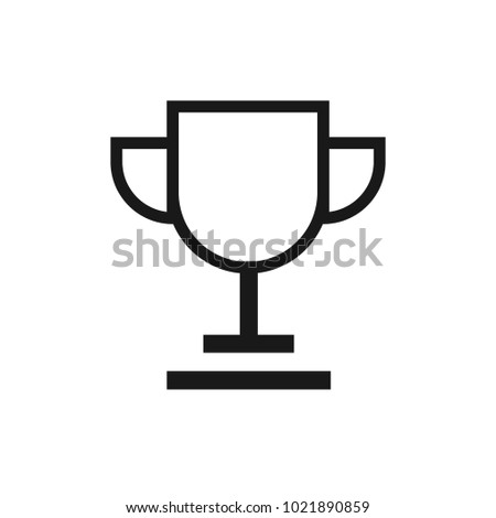 Simple Trophy Icon Stock Vector 1021890859