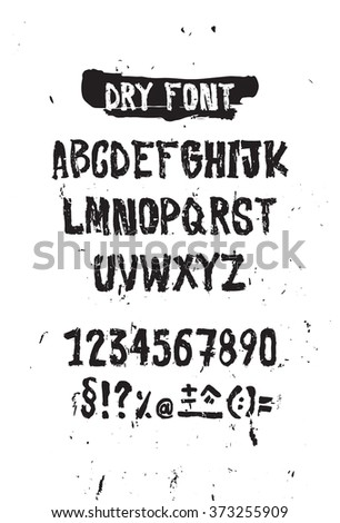Simple Universal Font Letters And Numbers Imitation Handmade Lettering Brush On Paper