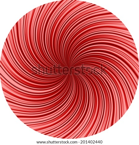 Simple vector background of striped texture diverging from the center of the circle
