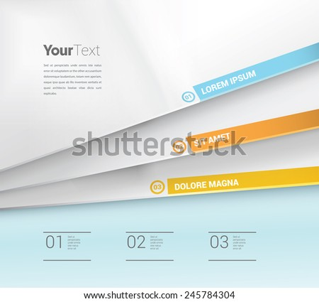 Simple Vector Brochure Design Concept For Minimal Magazine Infographics Cover Page. Scalable EPS10  in  CMYK Color Mode - stock vector