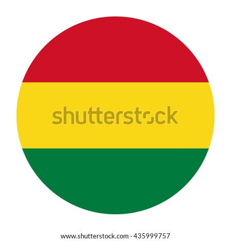 Simple vector button flag - Bolivia