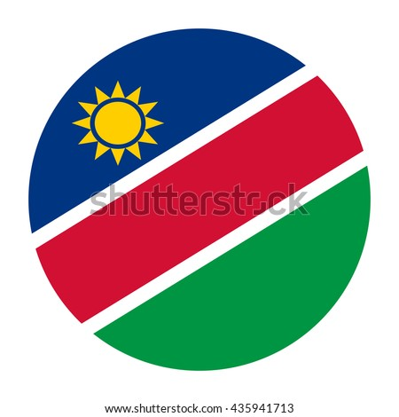 Simple vector button flag - Namibia