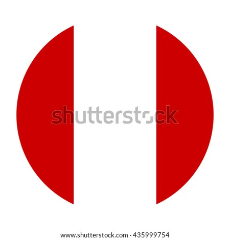 Simple vector button flag - Peru