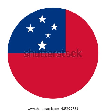 Simple vector button flag - Samoa
