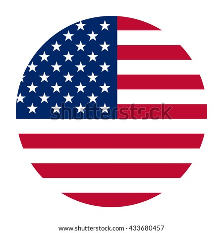 Simple vector button flag - Usa