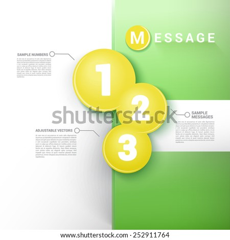 Simple Vector Composition of Yellow Crossing Circles For Category Infogaphics  Brochure Element - stock vector