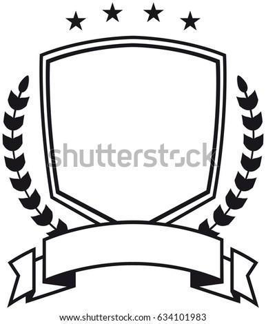 simple vector illustration black white crest stock vector 634101983 rh shutterstock com vector christmas background vector creation