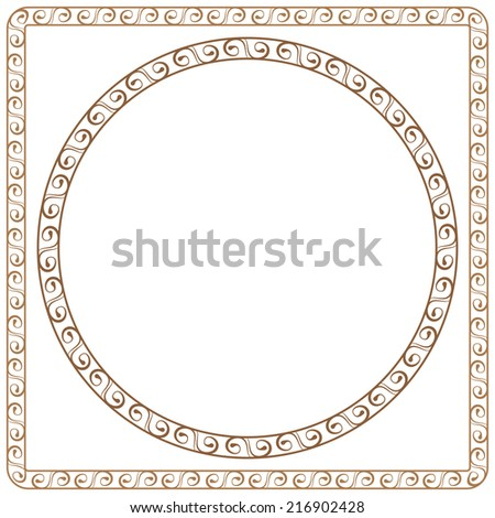 simple vector ornamental frames. Element for graphic design - stock vector