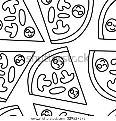 Simple vector pizza seamless pattern.