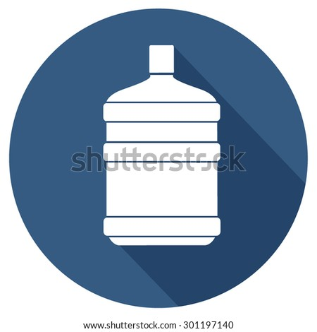simple water bottle icon - stock vector