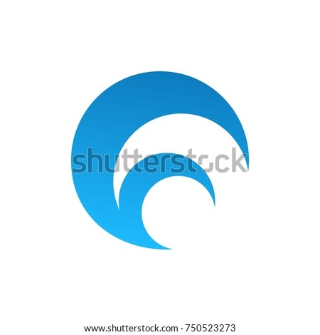 simple wave logo icon design concept vector illustration for your brand company elegant