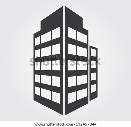 Simple web icon in vector: skyscraper - stock vector