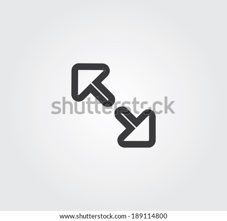 Simple web icon in vector: stretch - stock vector
