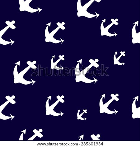simple white anchor seamless pattern disighn