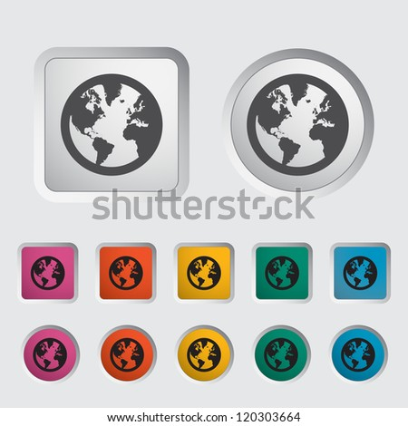 Simple World globe. Vector illustration EPS 8.. - stock vector
