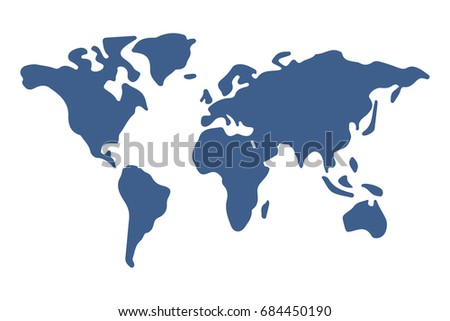 Simple world map dark blue vectores en stock 684450190 shutterstock simple world map dark blue gumiabroncs Image collections