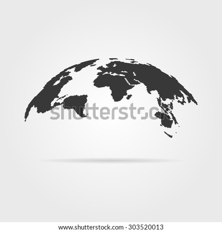 Simple world map icon shadow concept stock vector 303520013 simple world map icon with shadow concept of infographics element trip around the world gumiabroncs Images