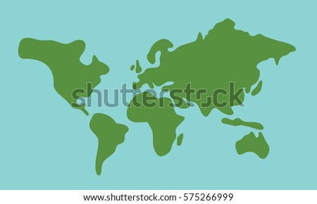 Simple world map on blue background stock vector hd royalty free simple world map on the blue background gumiabroncs Gallery