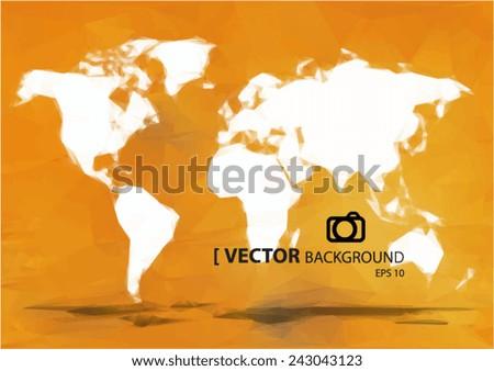 Simple world map orange paint vectores en stock 243043123 shutterstock simple world map orange paint gumiabroncs Gallery
