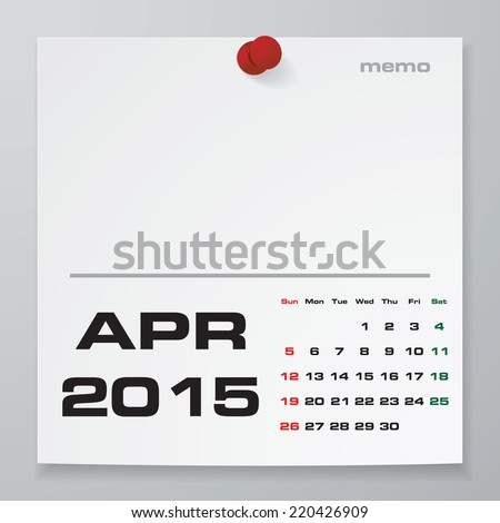 Simple  Year Vector Calendar Free Stock Vector