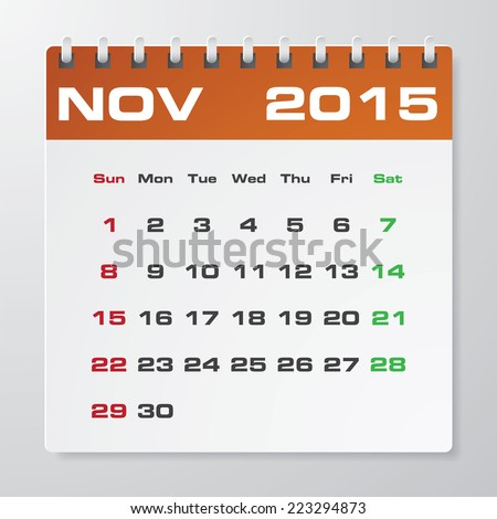 Annual Calendar Sample Images RoyaltyFree Images Vectors – Sample 2015 Calendar