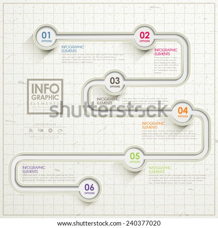 simplicity infographic template design with road elements - stock vector