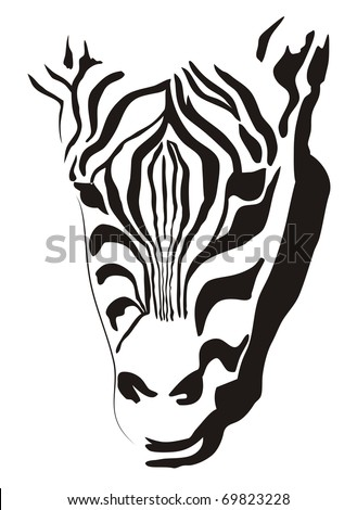 simplified image of an animal - stock vector