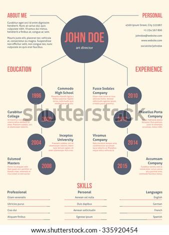 Simplistic but cool modern resume cv curriculum vitae template design - stock vector