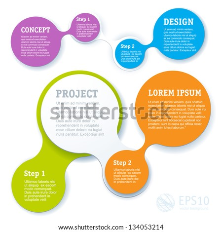 Simply minimal infographic template design. Vector. - stock vector