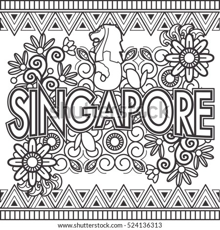 Singapore Doodle Art Text