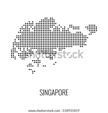 Singapore Dotted Mapvector Stock Vector 318935819 - Shutterstock