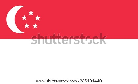singapore  Flag for Independence Day and infographic Vector illustration. - stock vector