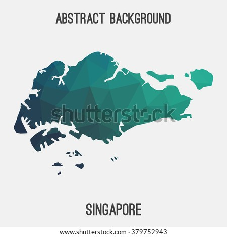 Singapore map stock images royalty free images vectors singapore map in geometric polygonal styleabstract tessellationmodern design background vector illustration publicscrutiny Images