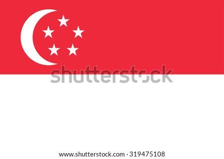 Singapore national flag - stock vector