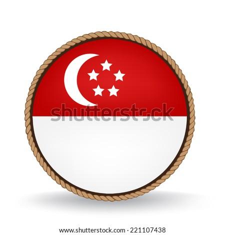 Singapore Seal - stock vector