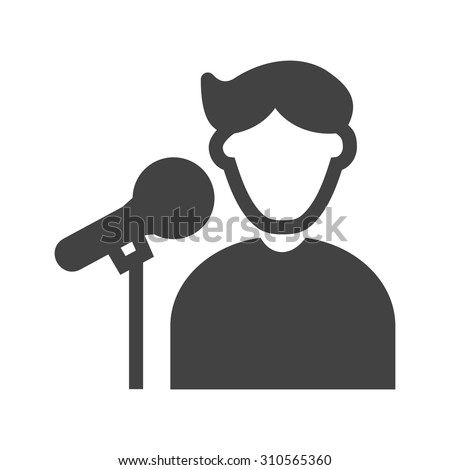 Singer, concert, star icon vector image. Can also be used for professionals. Suitable for web apps, mobile apps and print media. - stock vector