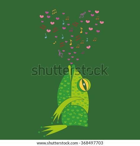 Valentine Frog Card Images RoyaltyFree Images Vectors – Singing Valentine Cards