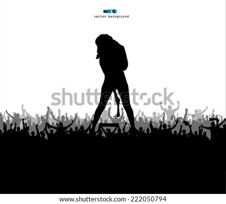 Singing girl - stock vector
