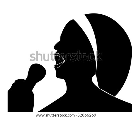 Singing woman - vector
