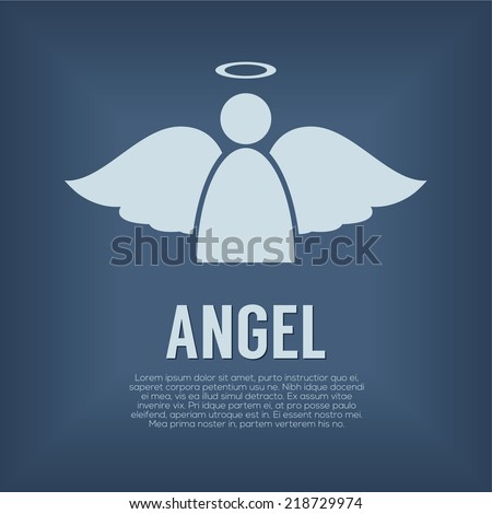 Single Angel Symbol Vector Illustration - stock vector