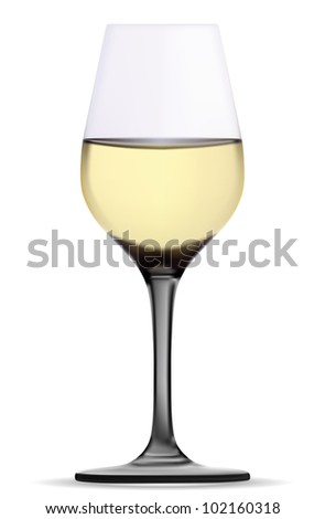 Single empty wine glass. Vector.