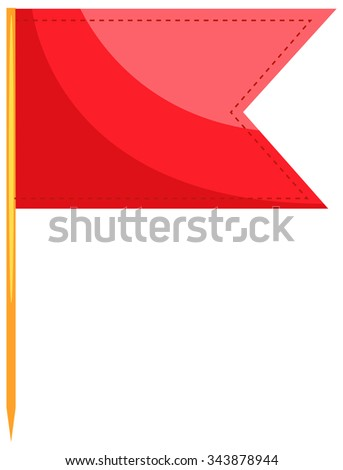 Single flag with sharp stick illustration