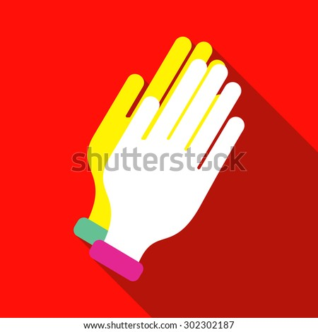 single flat style icon vector image hands
