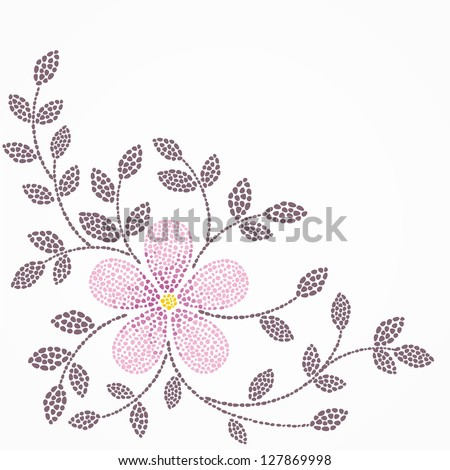 Single flower. Floral background. - stock vector